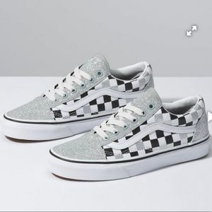 Vans Old Skool Glitter Checkerboard